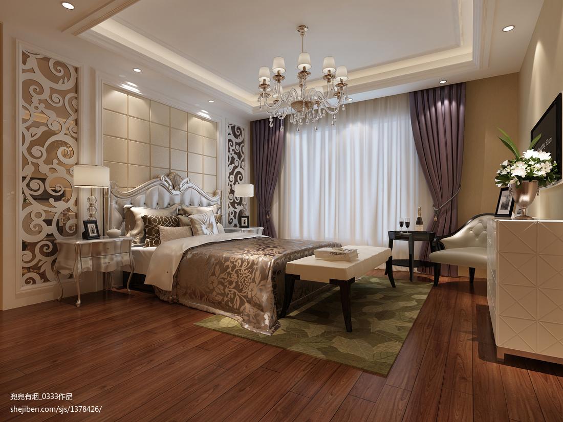 优雅现代风格卧室装修图片