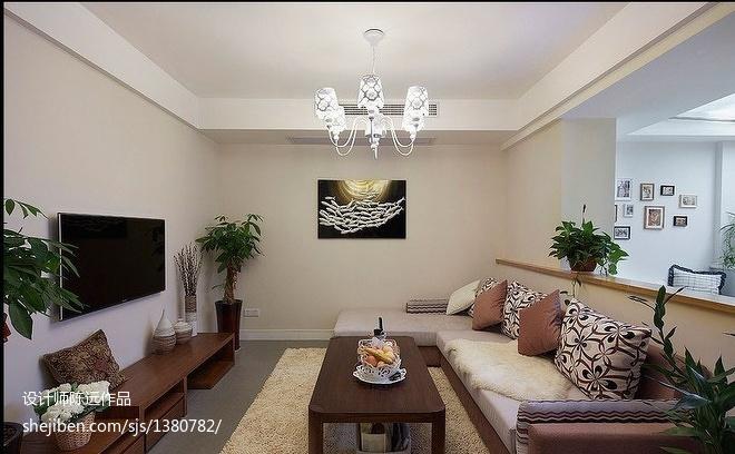 北欧风格三居客厅装修图片欣赏
