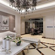 热门面积122平欧式四居客厅欣赏图片