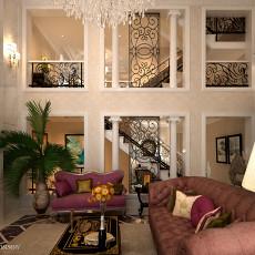 2018精选143平米欧式别墅客厅装修设计效果图片欣赏