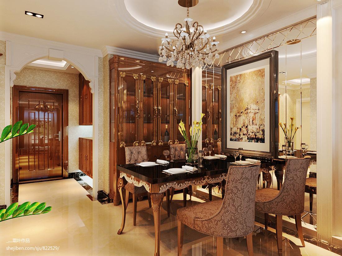 欧式餐厅复式房子装修效果图