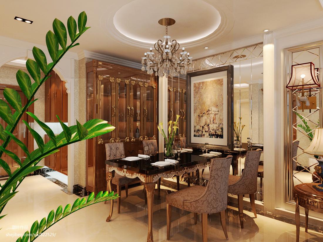 复式餐厅欧式装修欣赏图