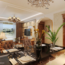 精选面积138平复式客厅欧式装修效果图片欣赏