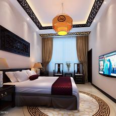 面积144平复式卧室中式装修效果图片