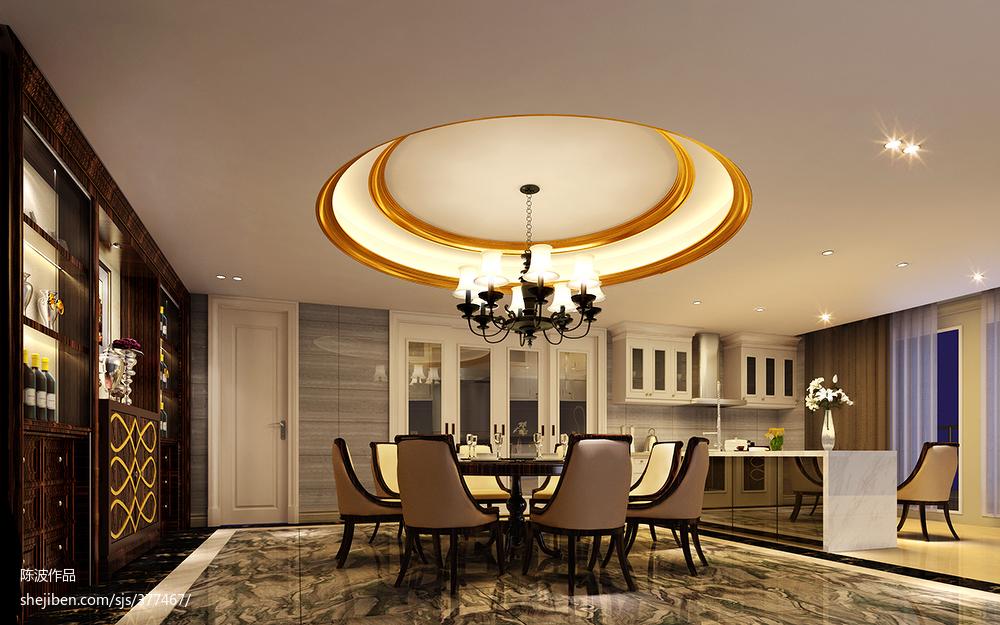 欧式复式餐厅设计效果图