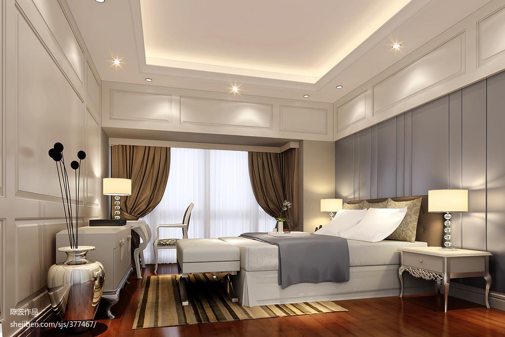 2018130平米欧式复式卧室装饰图片欣赏