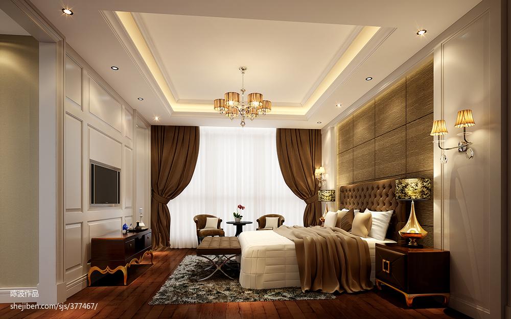 2018精选113平米欧式复式卧室效果图片大全