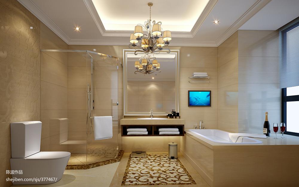 热门欧式复式卫生间实景图片大全
