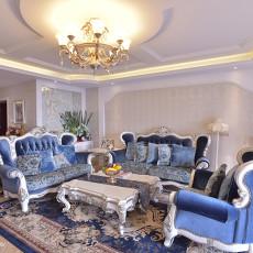 2018精选面积133平欧式四居客厅装修图