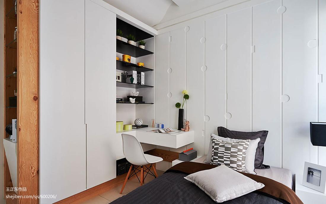 精美99平米三居卧室现代欣赏图
