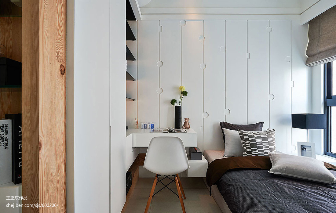 现代风格三居室卧室设计图