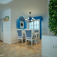 2018面积88平地中海二居餐厅装修设计效果图片