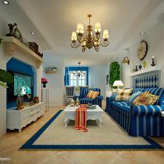 2018面积73平地中海二居客厅装修设计效果图片