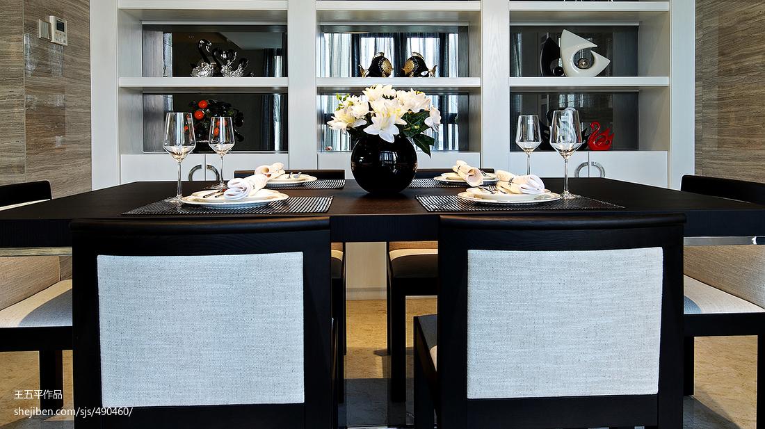 精美现代四居餐厅装饰图片大全