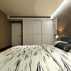 精美120平米四居卧室现代实景图