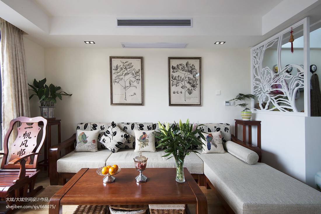 热门面积95平现代三居客厅效果图片大全