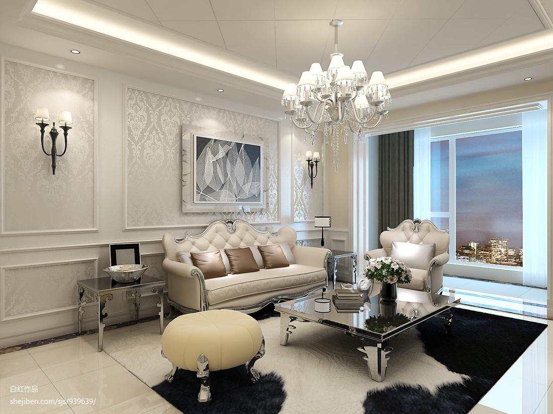 美式三居室装修效果图