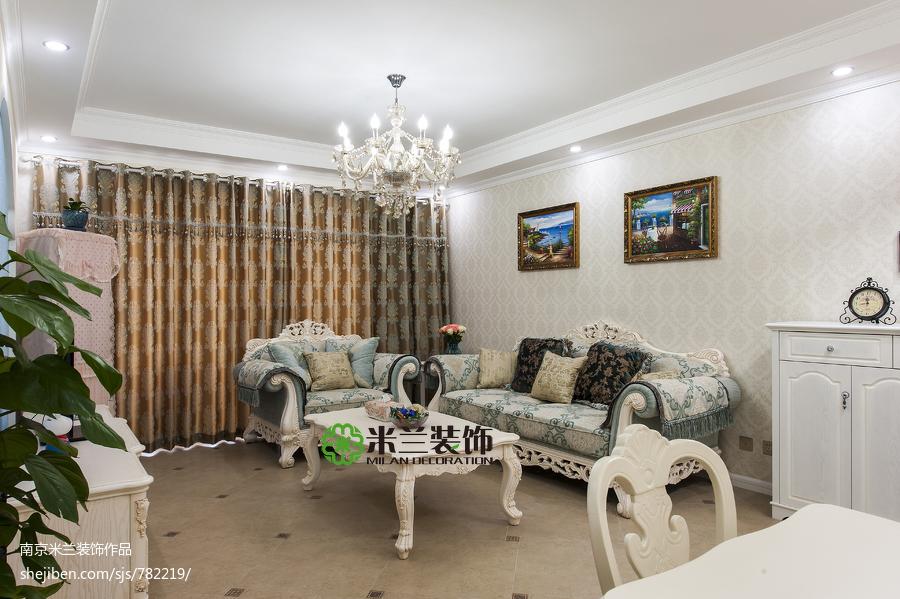 2018大小101平欧式三居客厅装修图片大全