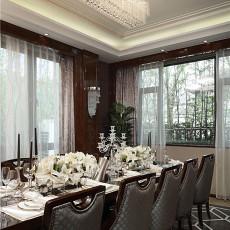 精美142平米新古典别墅餐厅装修实景图片