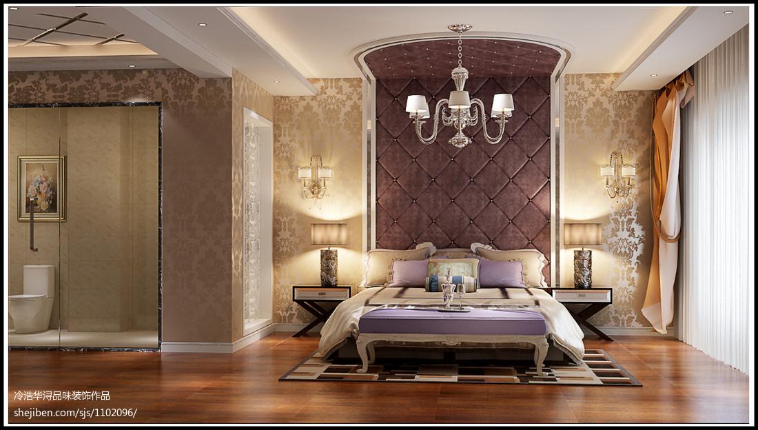 热门面积126平别墅卧室现代装修设计效果图片