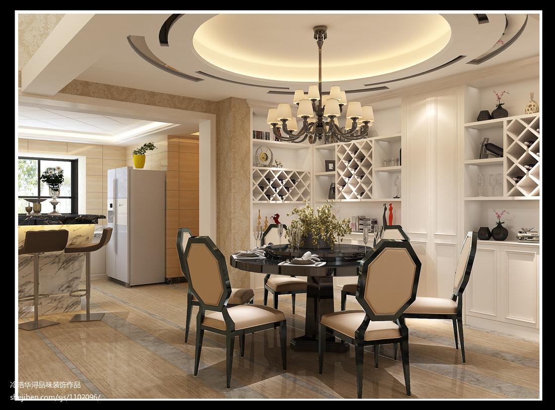精美132平米现代别墅餐厅设计效果图