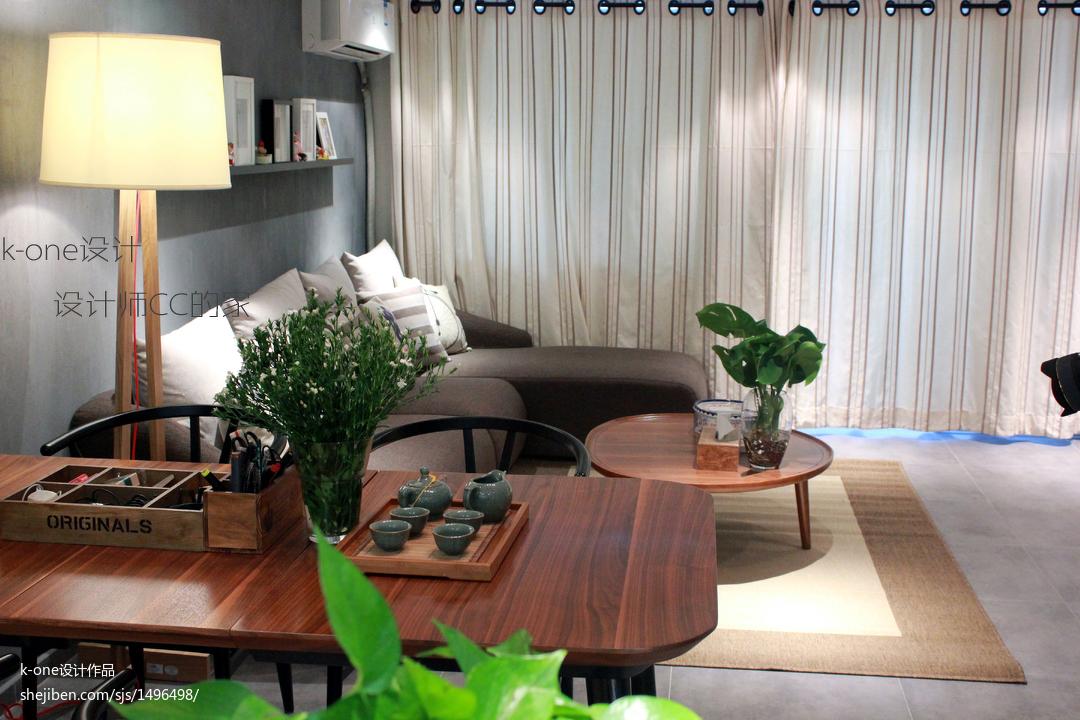 热门138平米现代复式客厅装修效果图片
