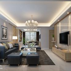 2018精选93平米三居客厅现代装修实景图片欣赏
