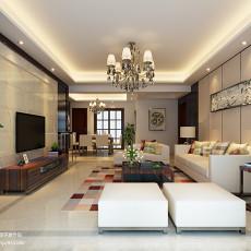 热门面积102平现代三居客厅装修实景图片欣赏