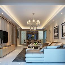 2018105平米三居客厅现代装修欣赏图片大全