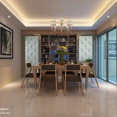 精美103平米三居餐厅现代装修设计效果图片大全