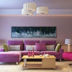 精选面积75平现代二居客厅装饰图