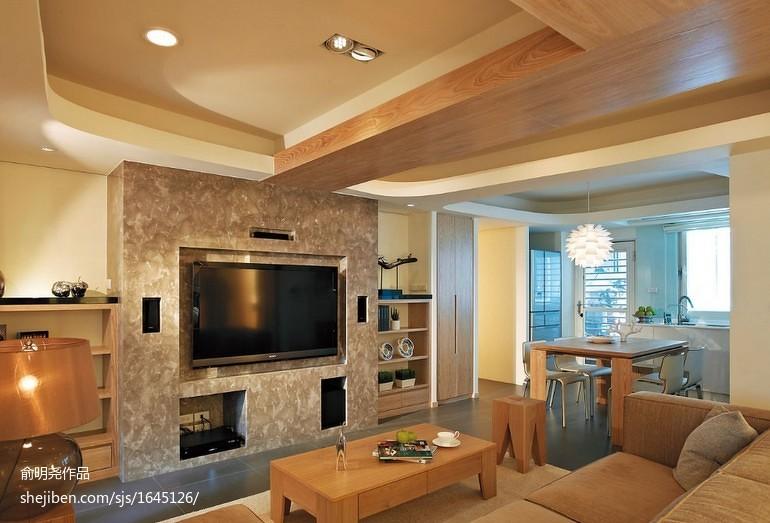 精美83平方二居客厅现代装修图