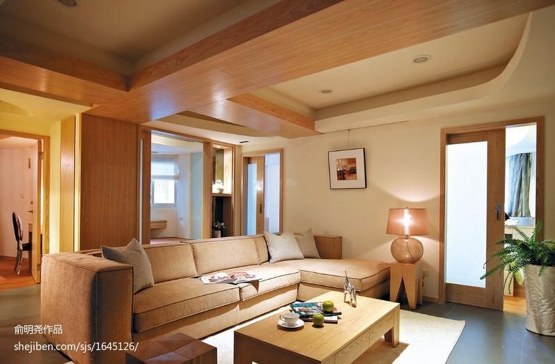 201873平米二居客厅现代装修实景图片欣赏