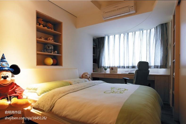 精选现代二居卧室实景图