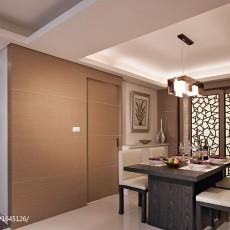 2018精选大小90平现代三居餐厅装修设计效果图片