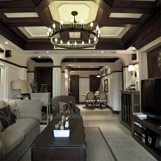 热门美式三居客厅装修效果图片