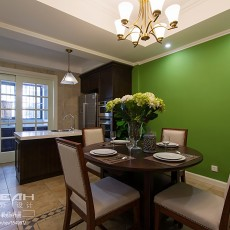 精美110平米美式别墅餐厅装修效果图片欣赏