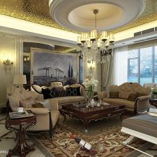 2018精选131平方四居客厅欧式效果图片大全