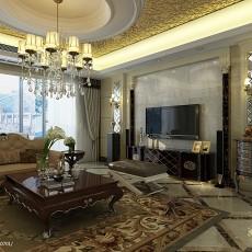 精选142平米四居客厅欧式设计效果图