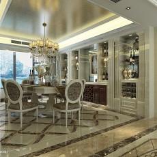 2018面积133平欧式四居餐厅装修设计效果图