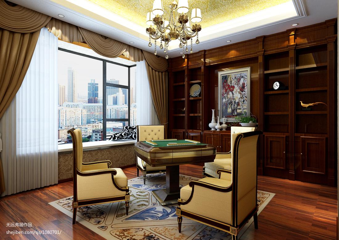 休闲区设计四室两厅装修效果图
