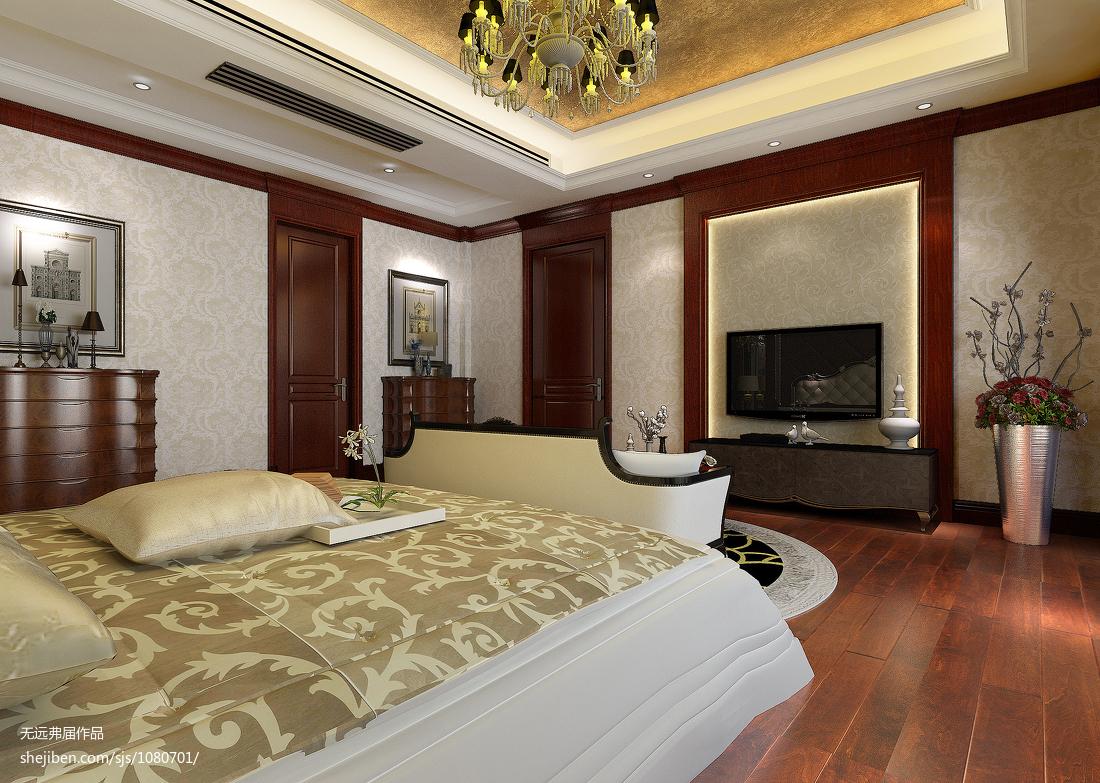 精选大小122平欧式四居卧室实景图片欣赏