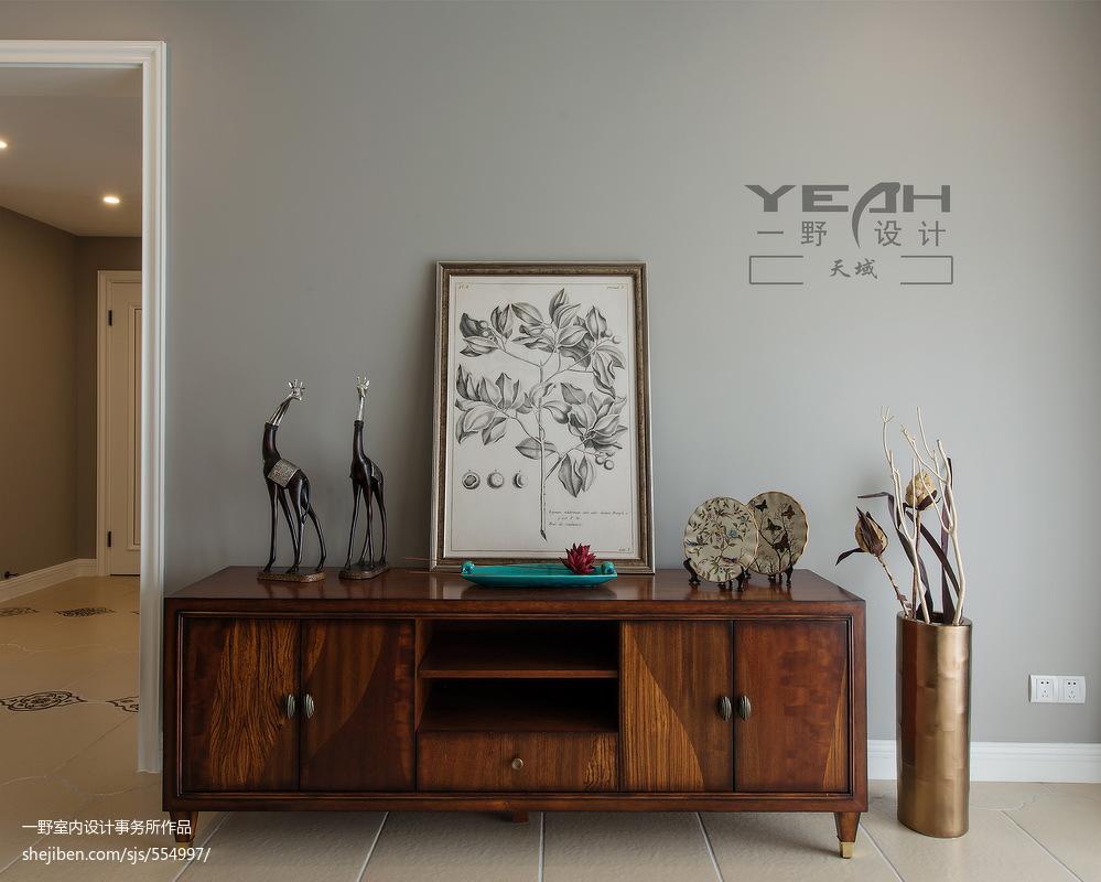 精选101平米三居客厅美式实景图片