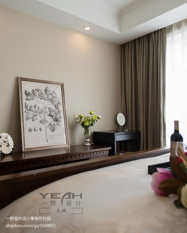 精选大小96平美式三居卧室装修效果图片