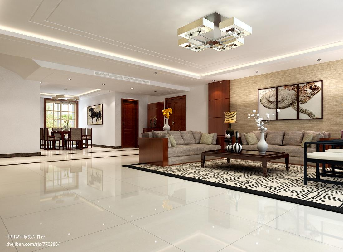 热门125平米四居客厅中式装修设计效果图片大全