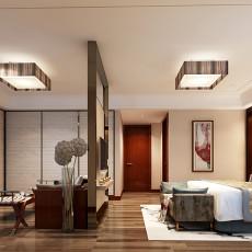 2018135平米四居卧室中式装修设计效果图片欣赏