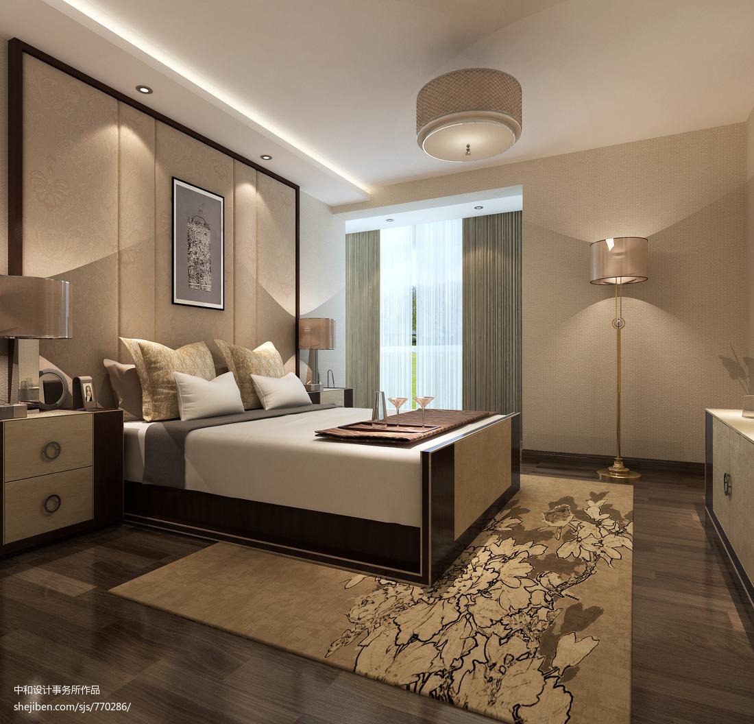 120平米四居卧室中式装修效果图片大全