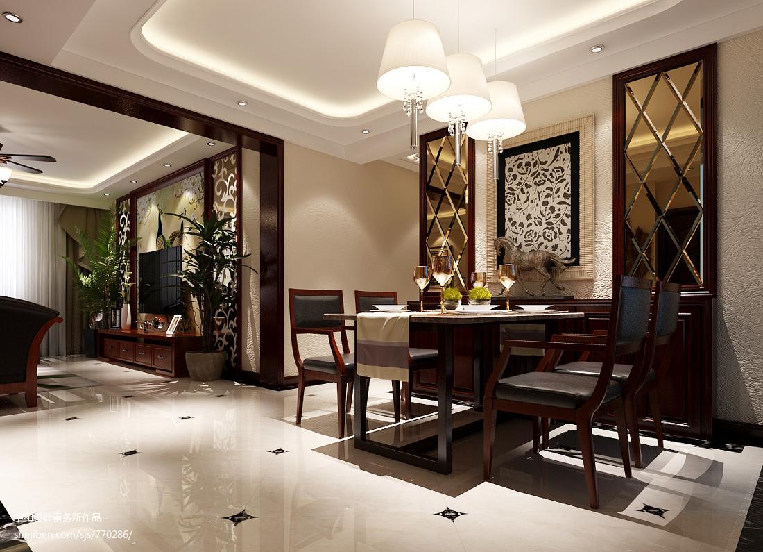 面积70平中式二居餐厅装修效果图