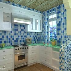 精选面积91平地中海三居厨房效果图片欣赏