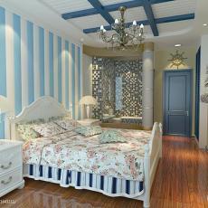 精美面积90平地中海三居卧室装修效果图片欣赏